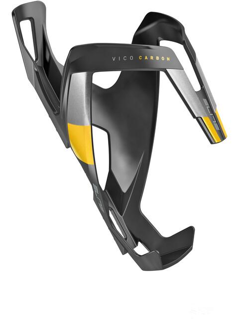 Elite Vico Flaschenhalter carbon schwarz matt/gelbe Grafik